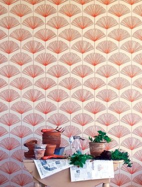 Lovely ginko leaf Raphael wallpaper by Sandberg.