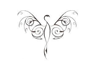 Tribal phoenix tattoo - I like the idea of a small, simple phoenix.