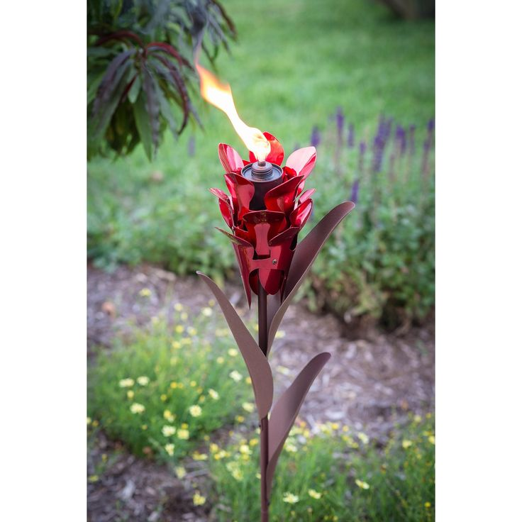 Desert Steel Ginger Garden Torch | from hayneedle.com