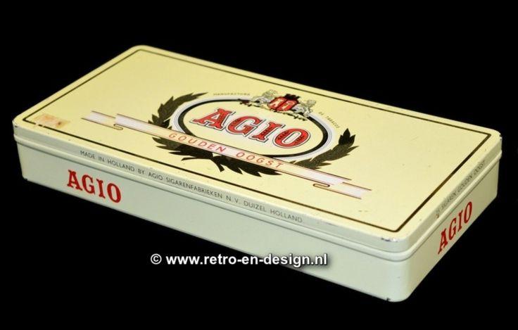 Vintage Sigarenblik AGIO Gouden Oogst  Made in Holland by AGIO Sigarenfabrieken N.V. Duizel Holland zie: http://www.retro-en-design.nl/a-42712676/blikken/vintage-sigarenblik-agio-gouden-oogst/