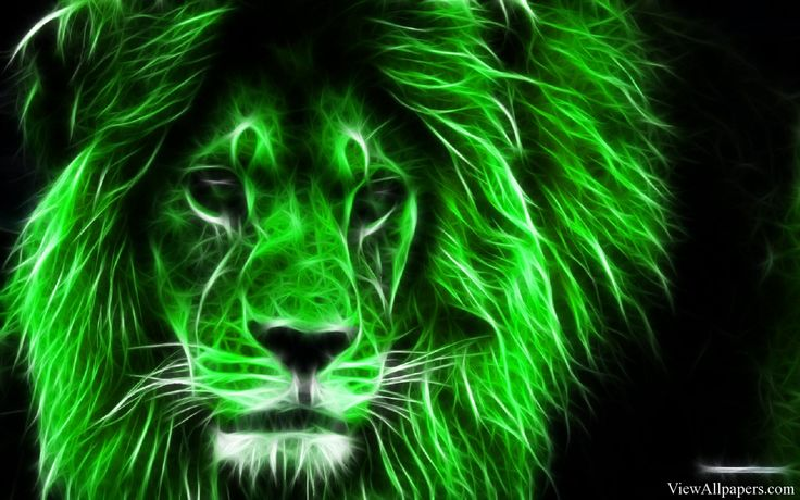 Green Lion Free Wallpaper