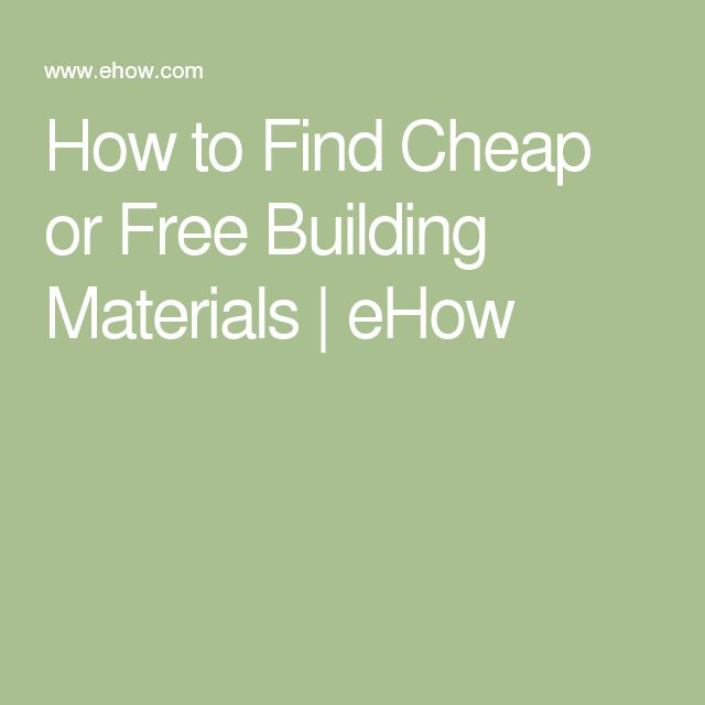 Best 25 cheap building materials ideas on pinterest for Cheap things to build