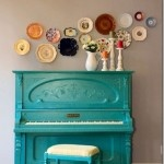 A cute and inexpensive wall decoration. Most plates are under $1 at flea markets or garage sales!