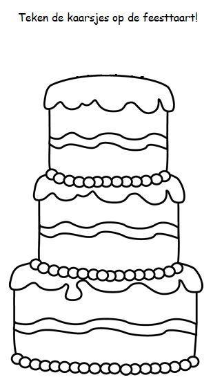 Kleurplaat taart
