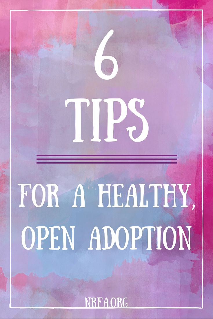 The term open adoption can strike fear in the heart of every adoptive family. But it doesn't need to.  Number #5 is a must!