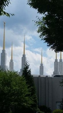 The tallest Mormon temple in the world soars above the Beltway.