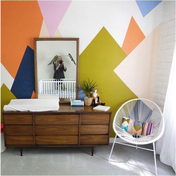 1000+ Ideas About Geometric Wall On Pinterest