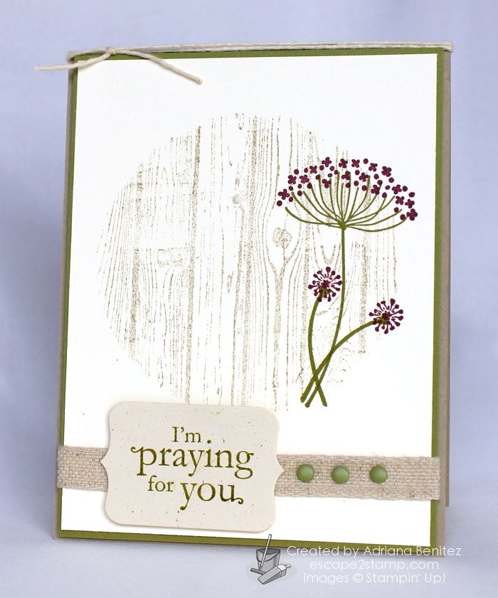 I love just a circle of background wood; could be done by sponging, embossing folder and circle cut or as done here, it's masked with circle cut front and stamped