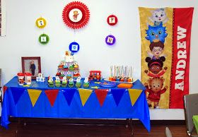 Writing, Reading, and Eating!: The Big Daniel Tiger Birthday Party Part I