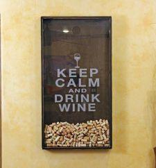 25x45  Wine Cork Holder Wall Decor Art - Keep Calm & Drink Wine