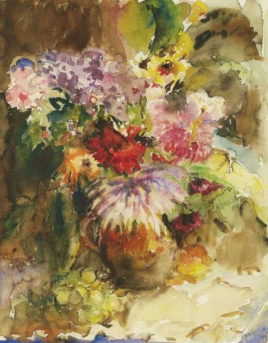 Фонвизин Артур Ваза с цветами и виноградная кисть