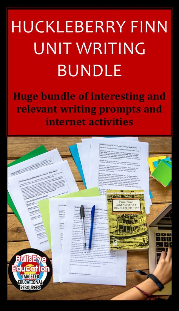 The Adventures Of Huckleberry Finn Writing Unit Bundle   Language  A Bundle Of Interesting And Relevant Writing Prompts And Internet  Activities Twenty Three Prompts Total Formatted As Four Lessons But You  Can Adapt The  Help Writing Essay Paper also Help Me To Do My Assignment In Singapore  Example Of A Good Thesis Statement For An Essay
