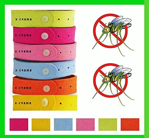 XTreme Green Mosquito Defense Repellent Bracelets 8 Pk Deet Free NonToxic Ultrafiber Bands Mosquito Bracelets Pest Control Safe Adults Kids Babies  Organic Oil Bug Repellent *** Read more reviews of the product by visiting the link on the image.