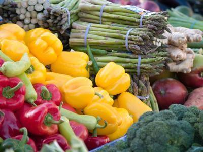 Seasonal and organic vegetables are enjoyed at natural food restaurants.