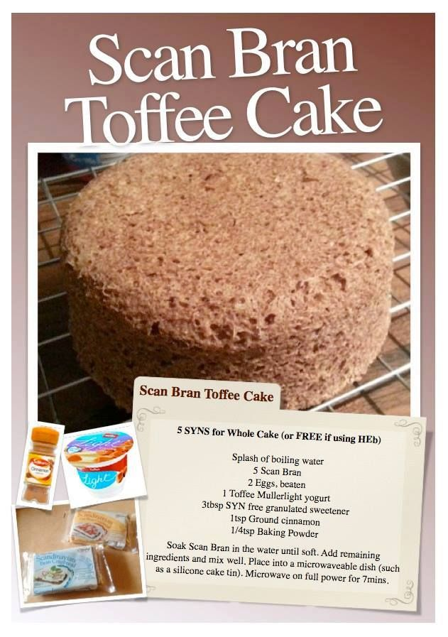 Scan Bran Toffee Cake #slimmingworld #weightloss