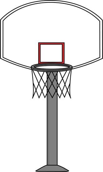 printable basketball art | Basketball Goal Clip Art Image - basketball goal on a gray post.