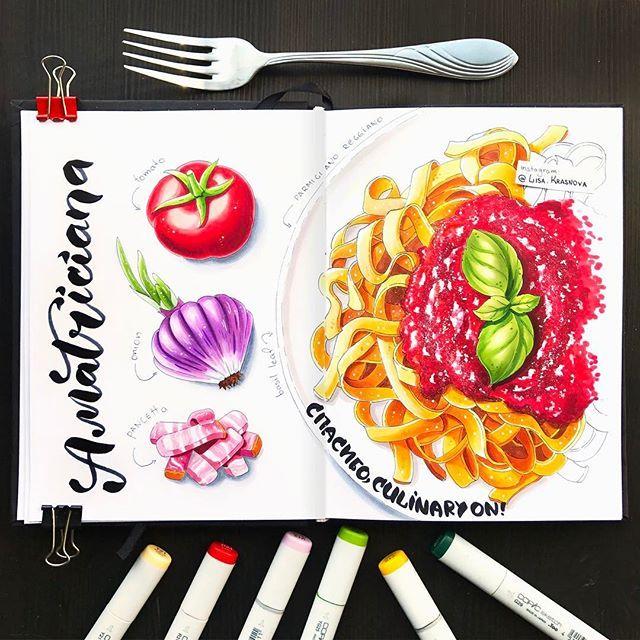 Pasta alla amatriciana 🍝  Те, кто читает меня давно, знает о моей любви к Италии и итальянской кухне. А на этих выходных я решила направить свою любовь в практическое русло и сходила на кулинарный мастер-класс от кулинарной студии @culinary_on. Вёл его харизматичный и невероятно позитивный шеф-итальянец Винченцо Дилилло, который умудрился не только подробно объяснить все рецепты, но ещё и пообщаться со всеми, станцевать с детьми макарену и устроить фаер-шоу со сковородками. В общем…