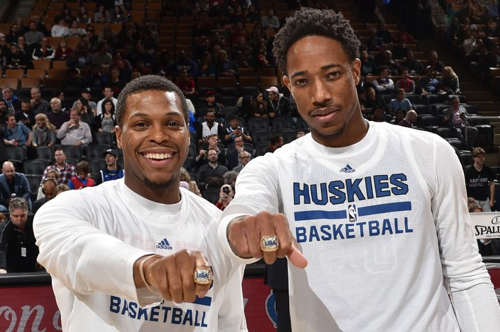 Photo Gallery: Huskies vs. Timberwolves 12/08/16. The rings are for their Team USA Olympics gold medal.