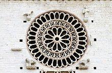 Assisi - Rosone centrale Cattedrale di San Rufino