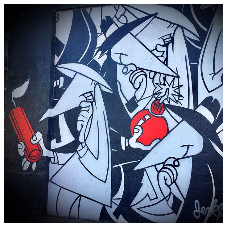 Spy vs. Spy - Los Angeles, California Street Art