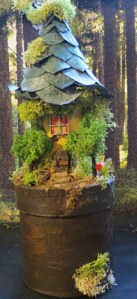 Fairy Village House Collectible Fantasy by fairytalesnfeathers, $19.95