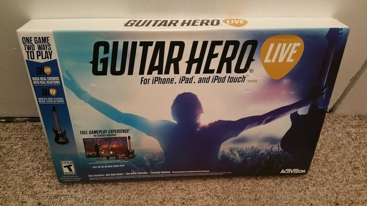 (*** http://BubbleCraze.org - If Tetris and Bubble Shooter had a kid, this would be it! ***)  Brand New Guitar Hero Live iPhone/iPad GAME + GUITAR  Ships Free, Never opened