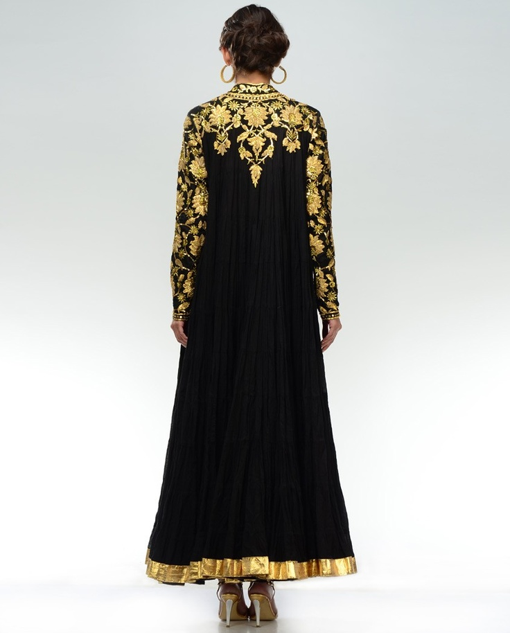 Black Anarkali Suit with Gota Work2