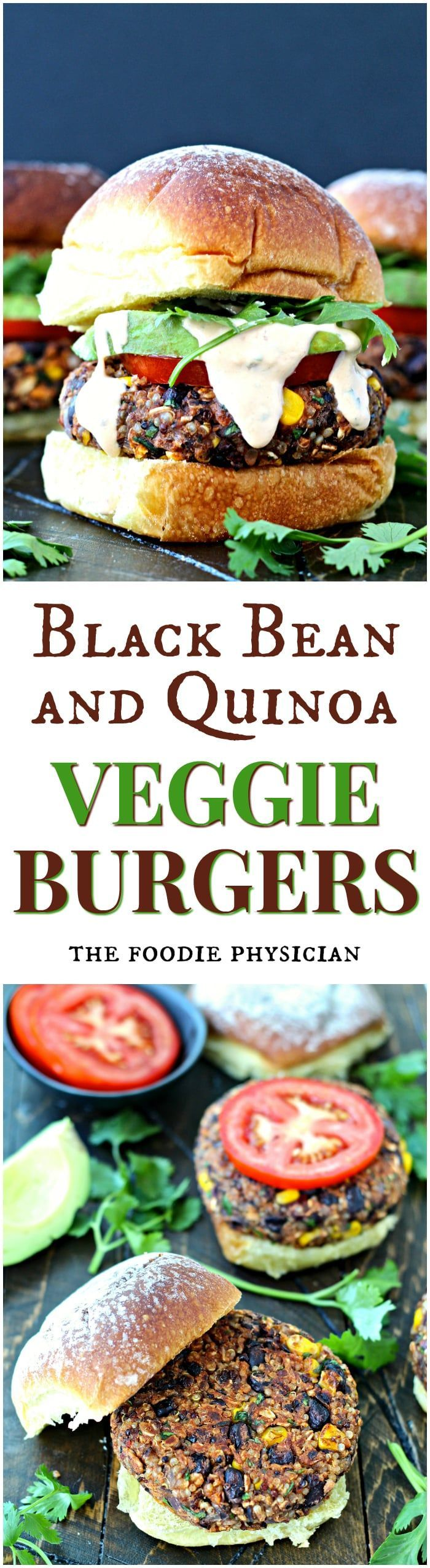 Black Bean & Quinoa Veggie Burgers - these flavorful plant-based burgers are packed with plenty of protein and fiber to keep you feeling full and satisfied!