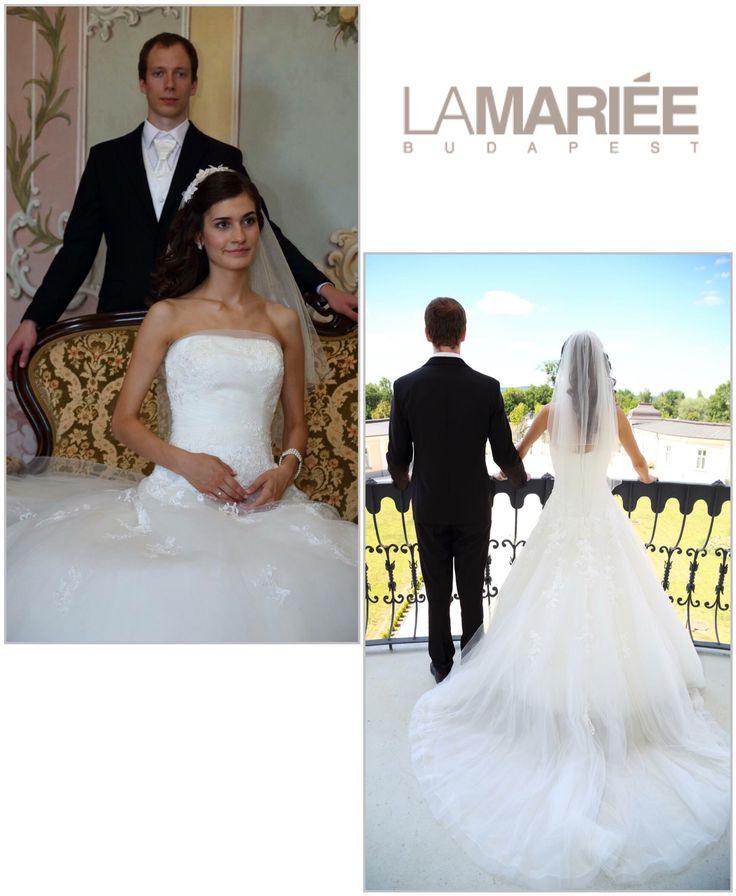 Ocotal esküvői ruha Pronovias kollekció  - Melinda menyasszonyunk http://lamariee.hu/eskuvoi-ruha/pronovias/ocotal