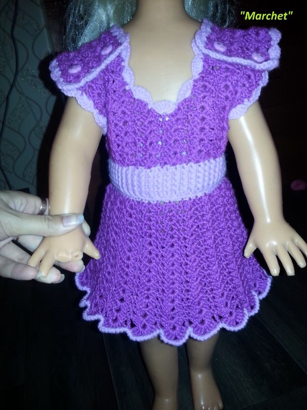 Ручная одежда Яркое платье для малышки