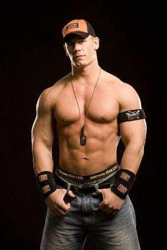 "John Cena People ask me,""Why do you watch RAW~ hmm let me think about that. You can't see him."