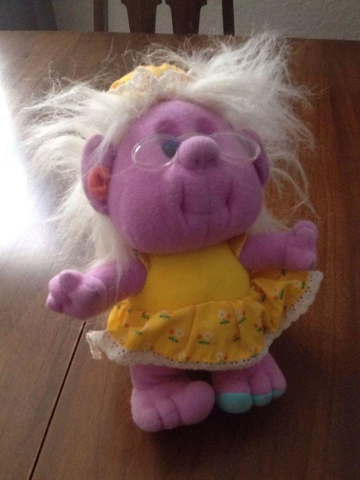 Vintage Playskool 1989 HOBNOBBINS Grandma Happy Hugs Plush Toy #Playskool