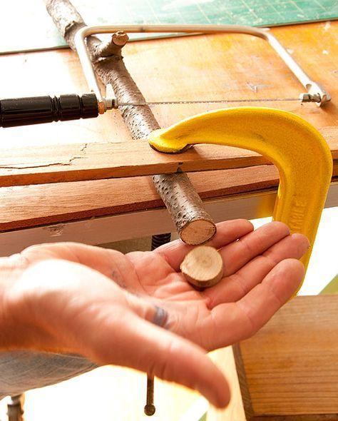 DIY Project: Tree Branch Buttons & Vinegar Wood Stains – Design*Sponge