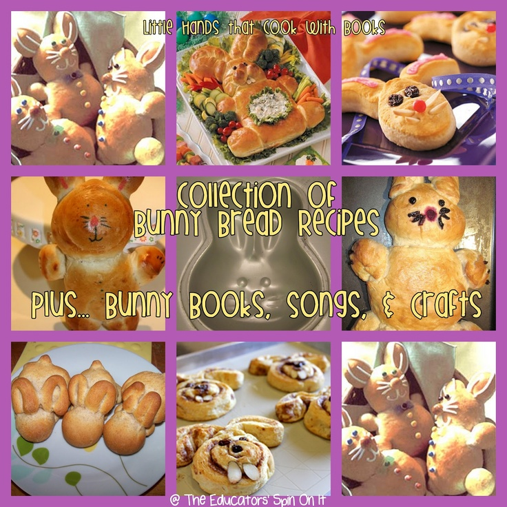 259 best spring easter images on pinterest easter fine motor a collection of recipes to create your own bunny bread little hands that cook with book lesson includes books songs crafts about bunnies negle Image collections