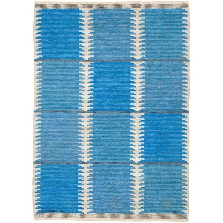 Swedish flatweave rug | Designed by Marianne Richter for Marta Maas-Fjetterstrom | 1963