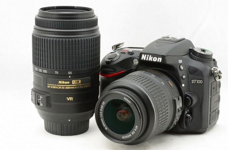 #14835  Nikon Camera D7100 300mm VR DOUBLE LENSES SET Mint Gift F/S JAPAN Tokyo #Nikon