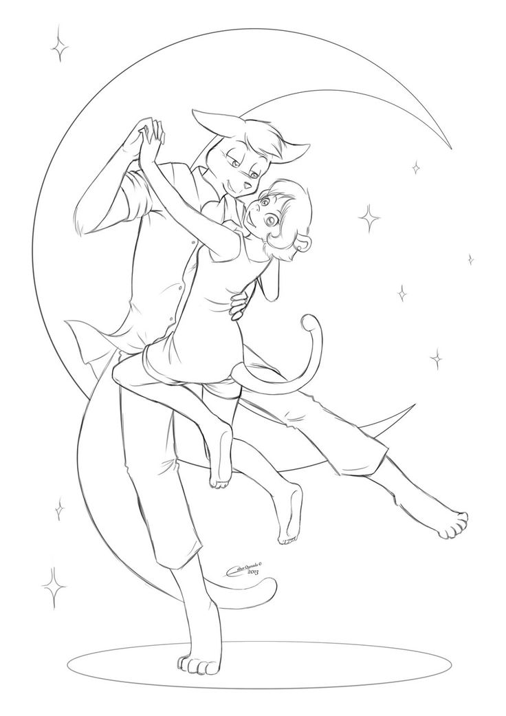 """Dance with me - Mary and Dave.  Two of my favourite OCs. Both belong to the story """"Will this ever end...?"""", a comic based on policemen and thieves in anthro style. These two are both police agents but I like them. Dave is very extrovert and funny, Mary is completely the opposite but she cares about her team... while Dave only cares about her. You can find more in my Deviantart's page - Raygirl13 < http://raygirl13.deviantart.com/gallery >"""