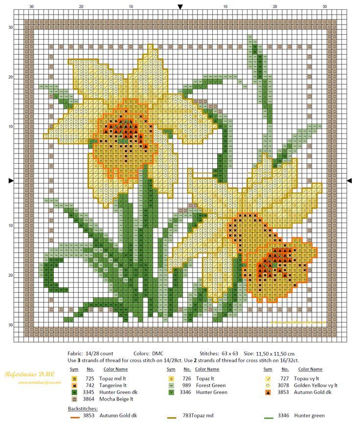 Χειροτεχνήματα: Σχέδια για λουλουδάτα κεντήματα / Flower cross stitch patterns