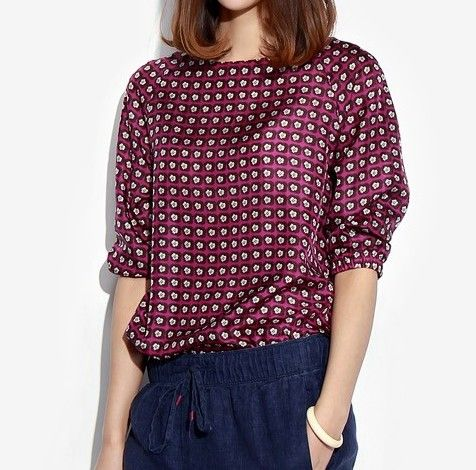 Spring and autumn fashion ol elegant silk top 100 mulberry silk t-shirt three quarter sleeve women's US $63.00 /piece   CLICK LINK TO BUY THE PRODUCT   http://goo.gl/oYWEYs