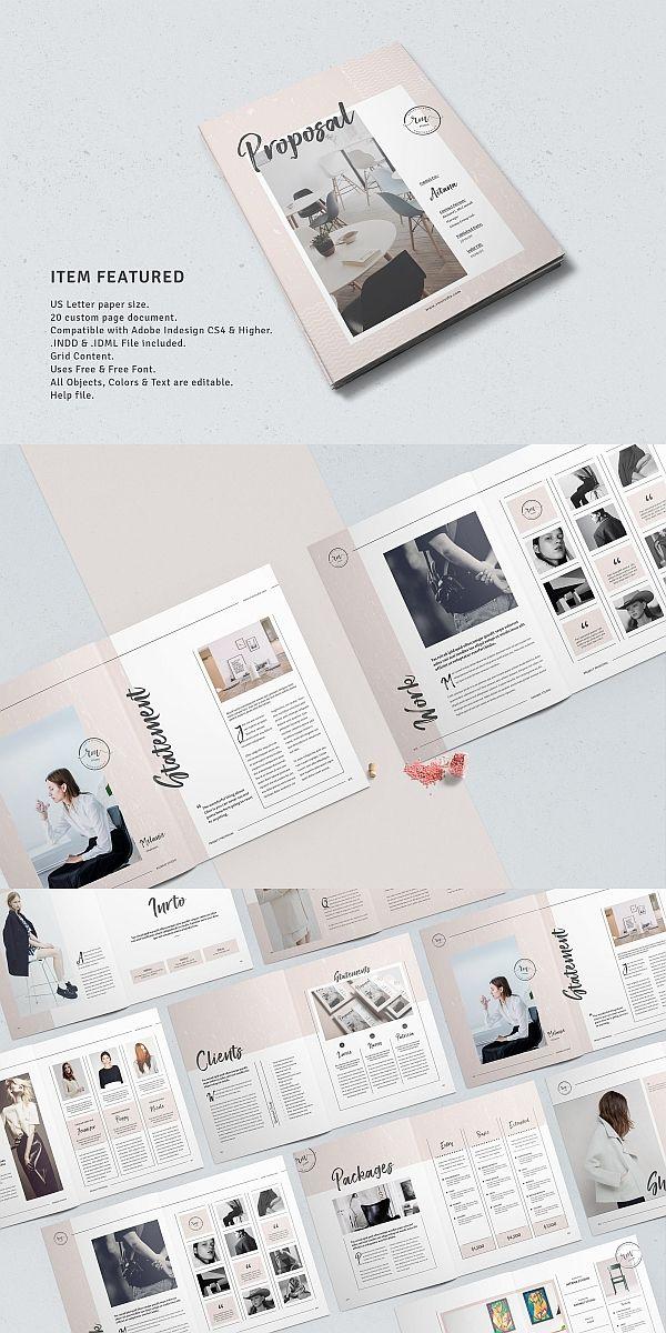 Business Proposal Template Brochure Templates Pinterest
