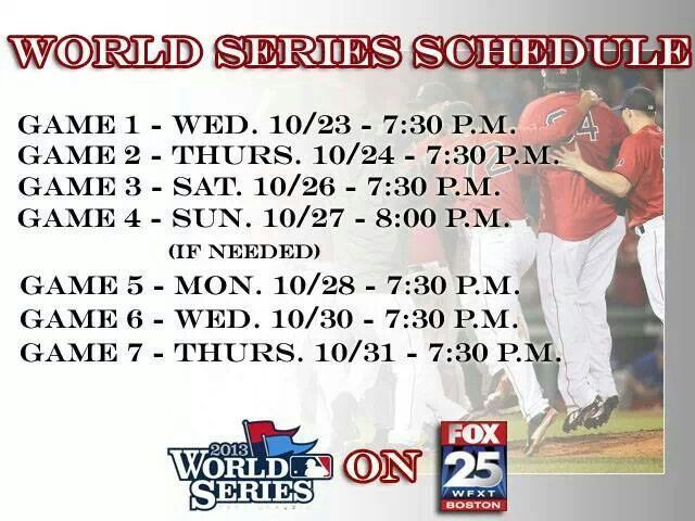 World Series Schedule @topbrandbasebal
