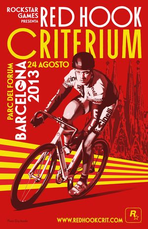 bicycling racing/ cycling race posters: Red Hook Criterium cycle race poster. Barcelona. 2013