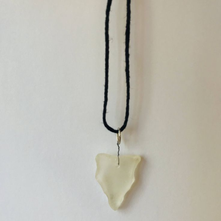 Beach Glass Necklace by KarynCooperDesigns on Etsy https://www.etsy.com/ca/listing/563612449/beach-glass-necklace