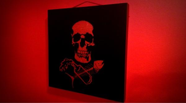 kato kusturica by teokon , via Behance  #teokon #woodcuts #skull #fishbone #art