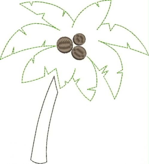 palm tree applique snap shot fabric and fiber crafts pinterest