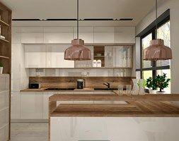 Aranżacje wnętrz - Kuchnia: Aranżacja kuchni i salonu w domu jednorodzinnym - Kuchnia, styl nowoczesny - Atelier Art%Design. Przeglądaj, dodawaj i zapisuj najlepsze zdjęcia, pomysły i inspiracje designerskie. W bazie mamy już prawie milion fotografii!