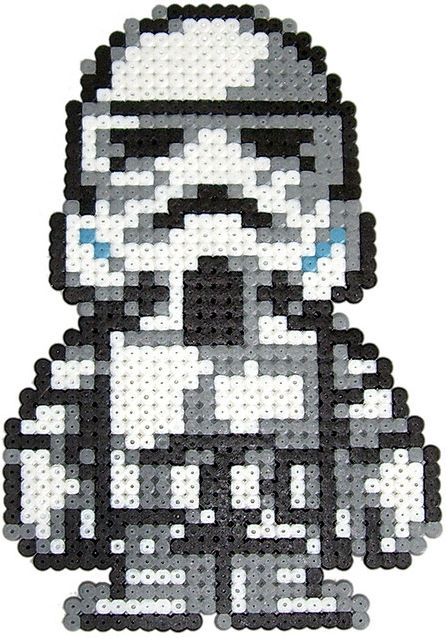 Stormtrooper Star Wars hama perler beads by Pixgraff