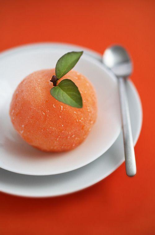 sorbet: Treats, Fruit, Orange Sorbet, Cinnamon Almond, Peaches Sorbet ...