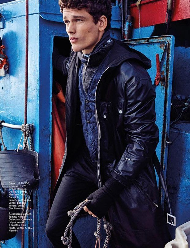 Supermodel Simon Nessman Stars in GQ Portugal October 2016 Issue