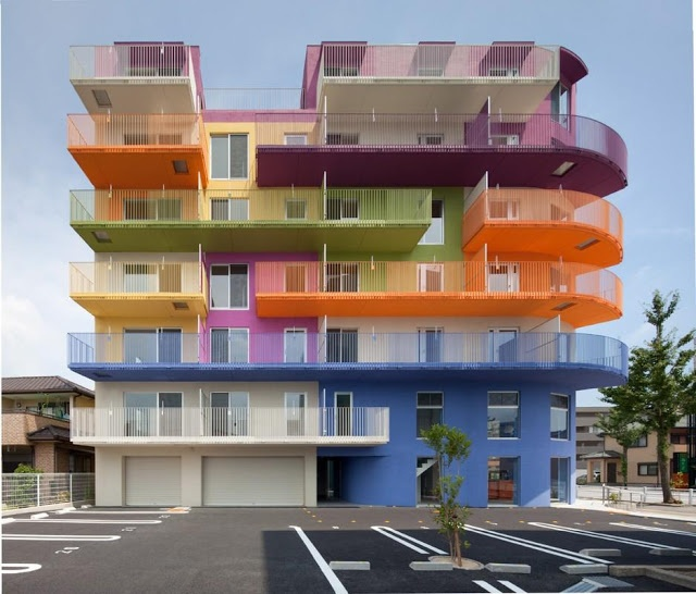 Colorful Building in Nagoya Japan